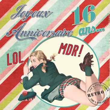 "Cartes postales collection ""Rétro-Birthday"""