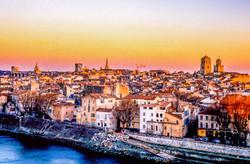 Arles - Coucher de soleil ou de nuit (14