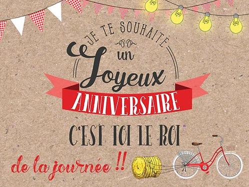 Carte fleuriste x 25 - Anniversaire Guinguette