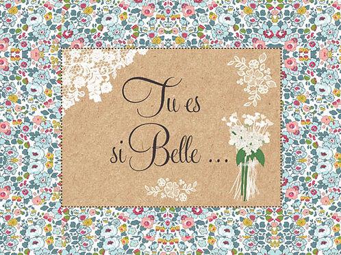 Carte fleuriste x 25 - Tu es si Belle- Réf FL002