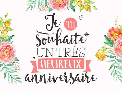 Carte fleuriste x 25 - Heureux Anniversaire