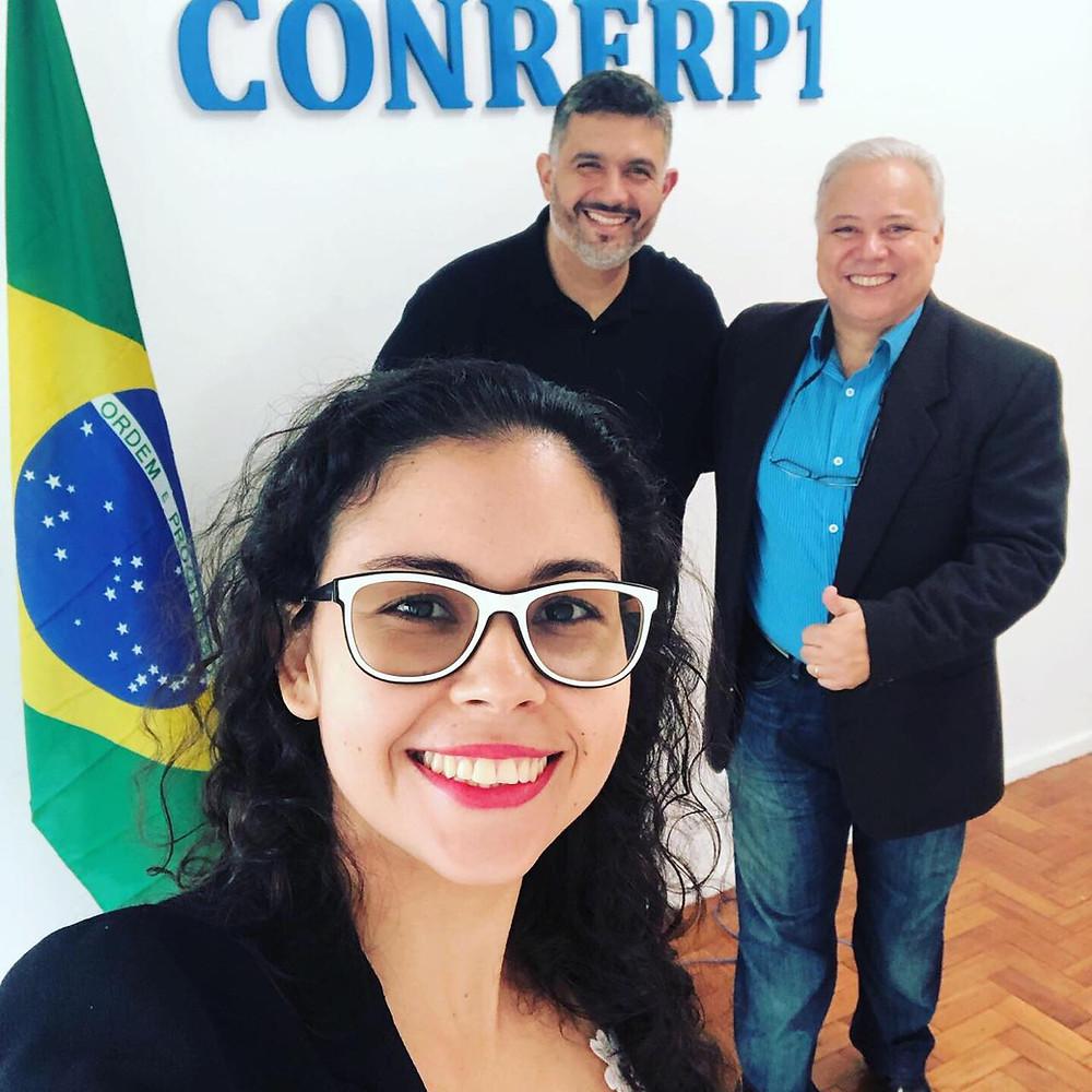 Roberta Paraguassú (Sec. Geral Conrerp1), Marcelo Tavares (Pres. Conferp) e Marcelo S. Oliveira (Pres. Conrerp1)