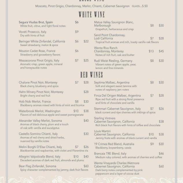 Napoli's menu 6