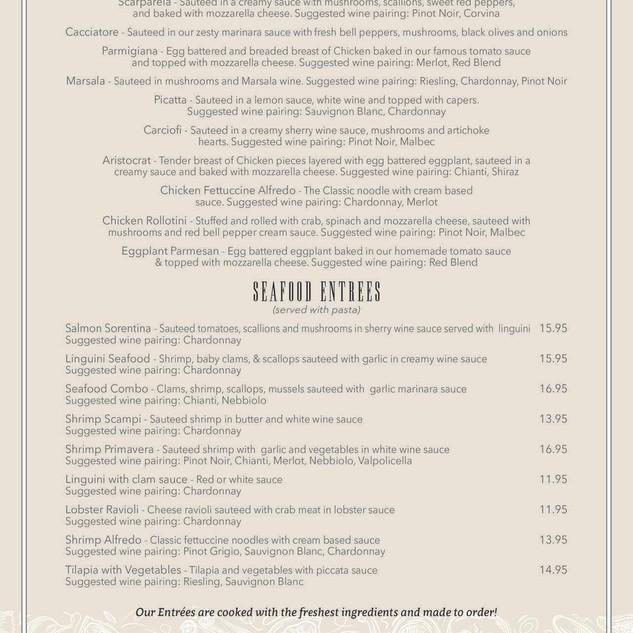 Napoli's menu 3