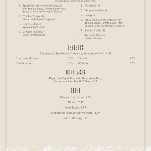 Napoli's menu 5