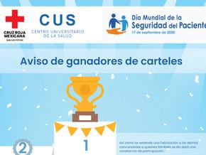 """Ganadoras del Concurso de carteles """"Personal sanitario seguro, pacientes seguros"""""""