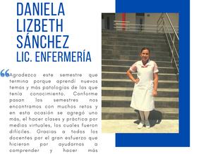 Testimonio fin de semestre dic2020: Daniela Lizbeth Sánchez