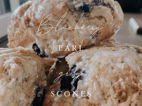 Blueberry Earl Grey Scones