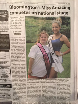 Article in Bloomington Sun Current