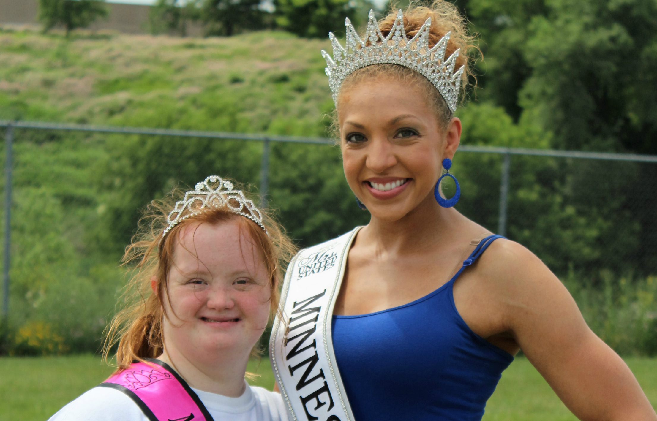 With Mrs. Minnesota