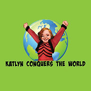 katlyn conquers the world logo green bac