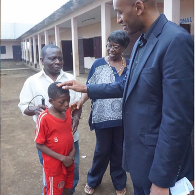 """We can't help everyone, but everyone can help someone"""". Met this little guy at the school for the deaf. If God willing We hope to see him again by the end of this year with some gifts to make him smile a little more. Support us today. To pledge your support please go to www.jumpafrica.org no dollar amount is too small. you can also support by simply sharing our causes with others."""