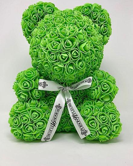 GREEN Rose Teddy Bear