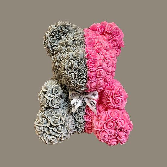 Pink Ice Rose Teddy Bear