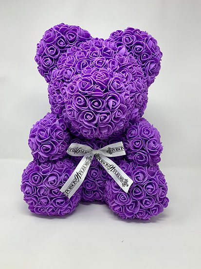 PURPLE Rose Teddy Bear