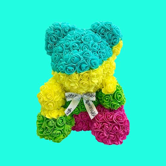Tropical Rose Teddy Bear