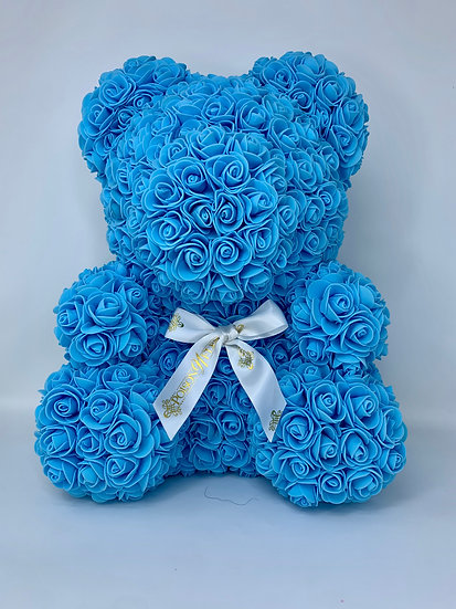 Light Blue Rose Teddy Bear