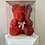 Thumbnail: Maroon  Rose Teddy Bear