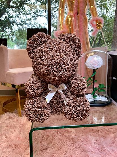 BROWN  Rose Teddy Bear