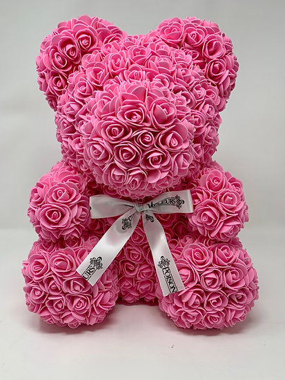 LIGHT PINK Rose Teddy Bear