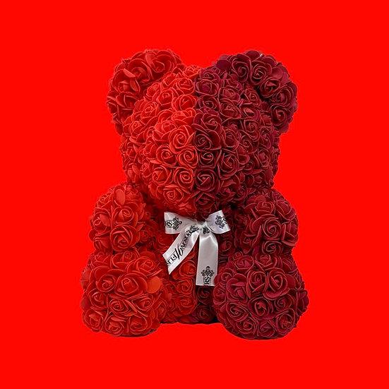 Maroon  Rose Teddy Bear