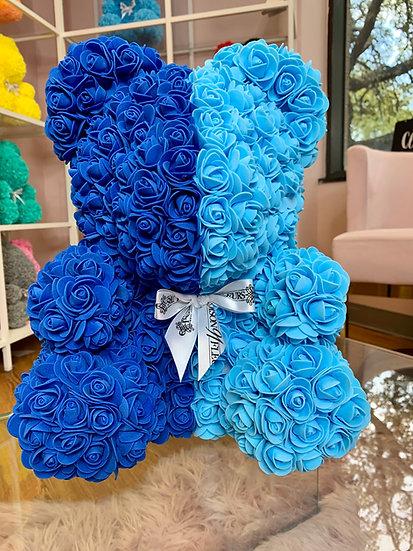 Blue's Rose Teddy Bear