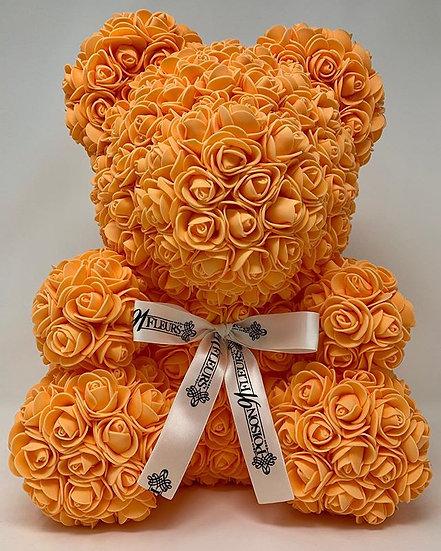ORANGE Rose Teddy Bear