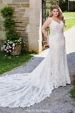 Amazing Lace and Tulle Fit and Flare Gown