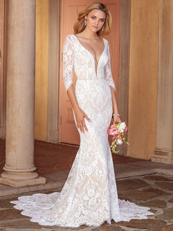 ALL LACE WITH DEEP V NECKLINE