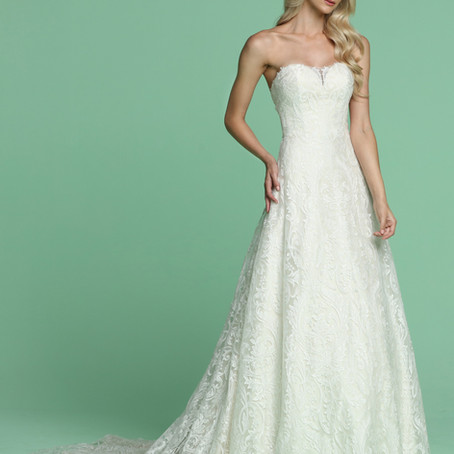 Champagne Wedding Dresses for 2021 By DaVinci Bridal