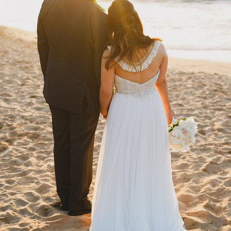 Casablanca Bridal brings us some beach looks for oceanside ceremonies