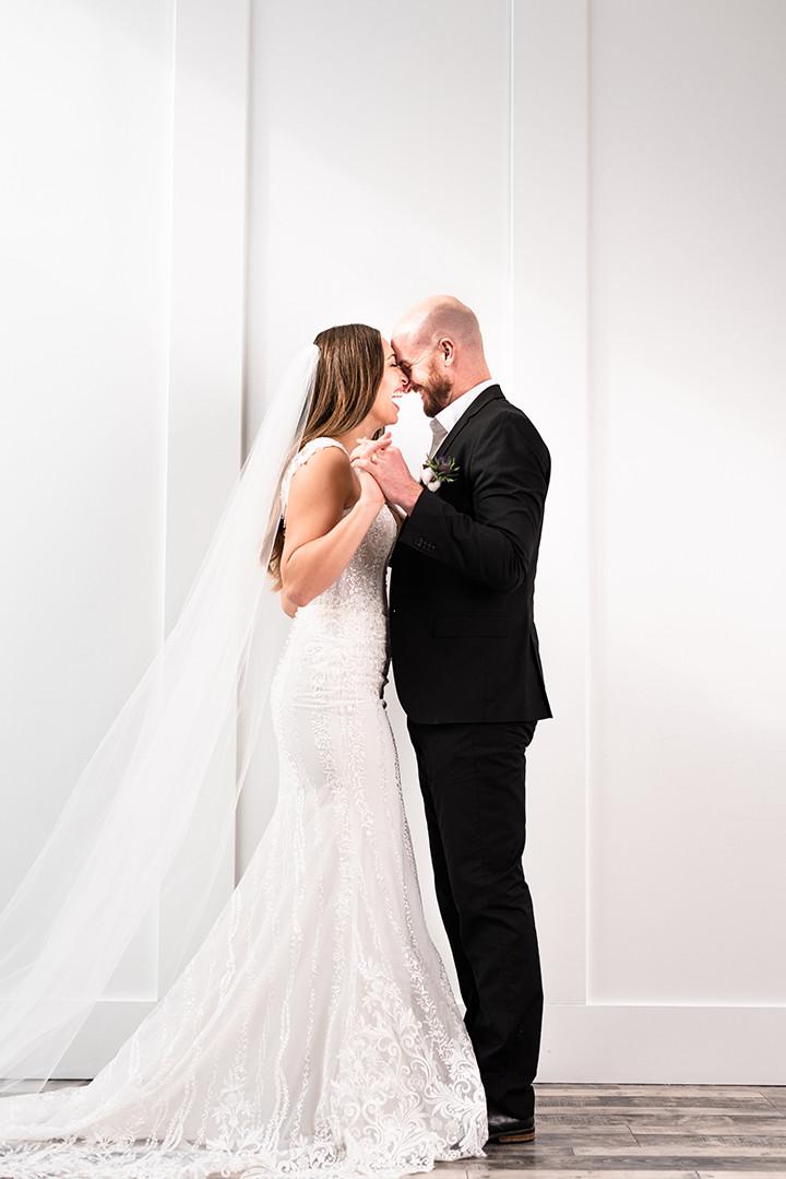 wedding dress by Martin Thornburg Mon Cheri Bridals