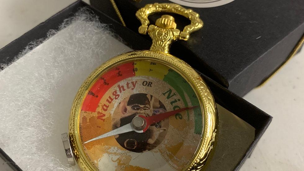 Naughty or Nice Pocket Watch