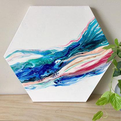 """Free Spirit"" Original Abstract Acrylic Fluid Canvas Art Painting"