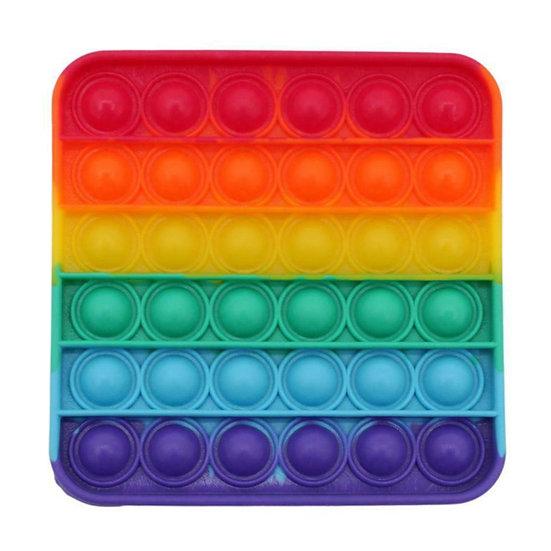 Bubble Pop It Fidget - Rainbow Square