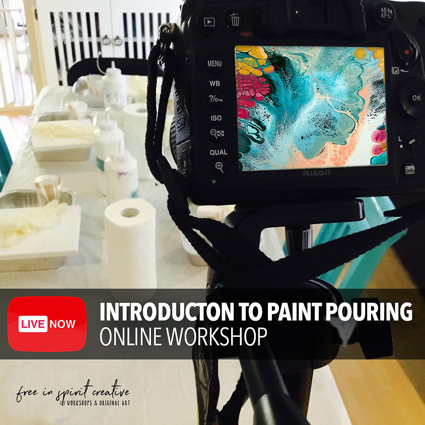Introduction To Pour Painting Online Youtube Live Workshop