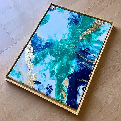"""Natures Dance"" Original Abstract Acrylic Fluid Canvas Art Painting"