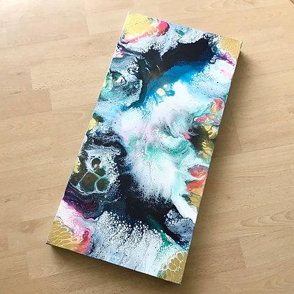 """Aurora"" Original Abstract Acrylic Fluid Canvas Art Painting"