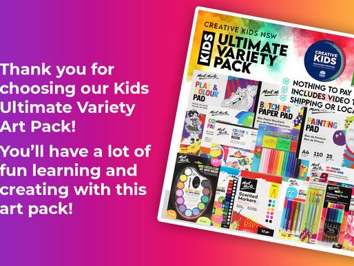 Kids Ultimate Variety Pack Tutorials - Creative Kids NSW
