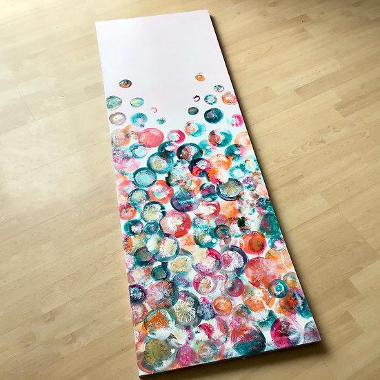 """""""Colour Loves Company"""" Original Acrylic Fluid Art Painting"""
