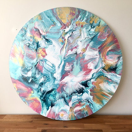 """Always Hope"" Original Abstract Acrylic Fluid Canvas Art Painting"