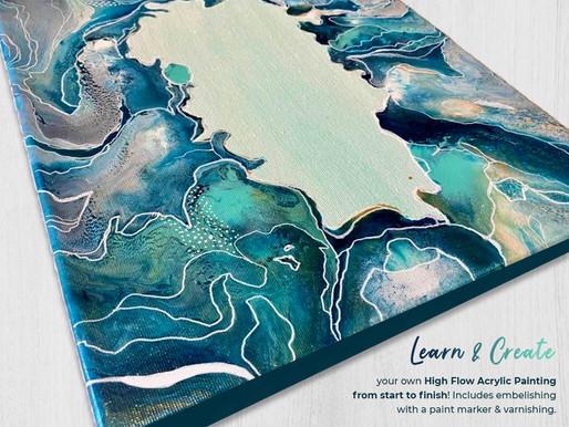High Flow Acrylics Video Tutorial