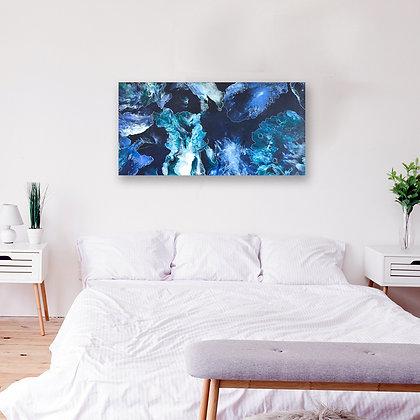 """Coral Sea"" Original Abstract Acrylic Fluid Canvas Art Painting"