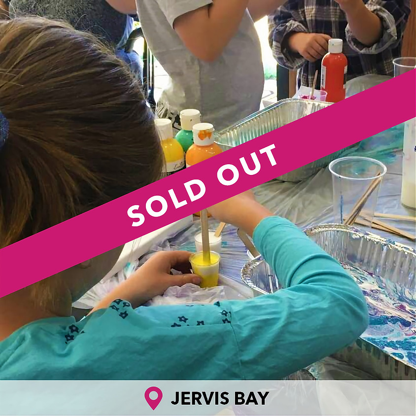 Kids Paint Pouring Jervis Bay