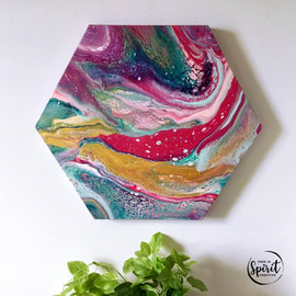 Joyful-Original_Abstract-Pour-Painting-F
