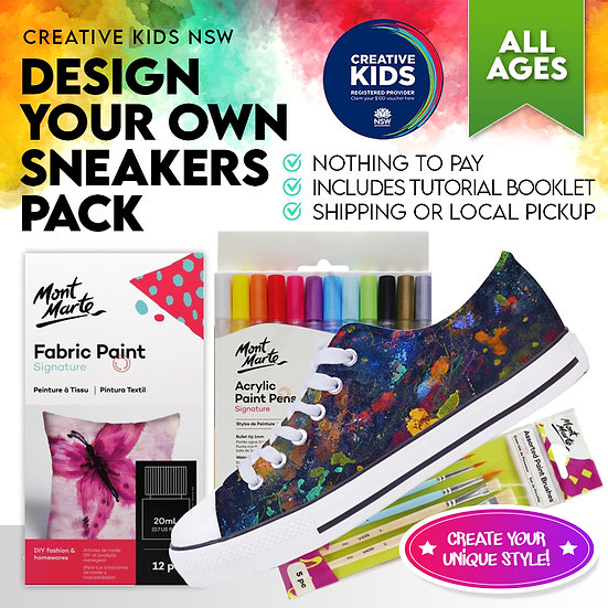 Design Your Own Sneaker - Creative Kids NSW
