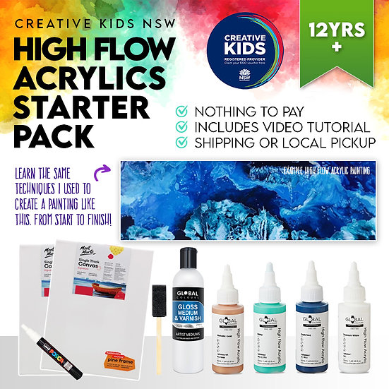 The Complete Premium High Flow Acrylic Pack - Creative Kids NSW