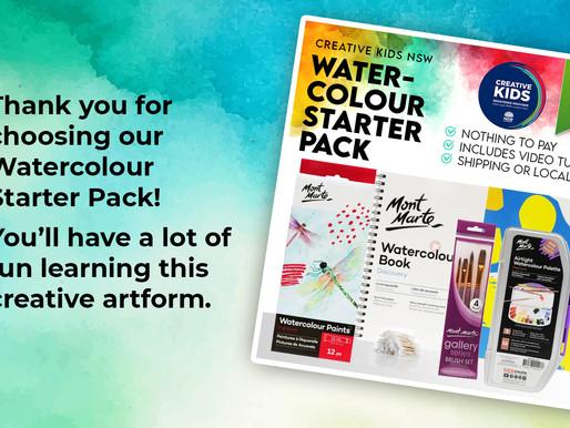 Watercolour Starter Pack Tutorial - Creative Kids NSW