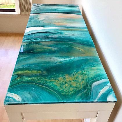 """Sanctuary Cove"" Original Resined Hall Table"