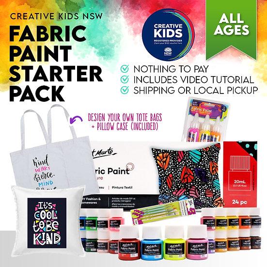 Fabulous Fabric Paint Mega Pack - Creative Kids NSW